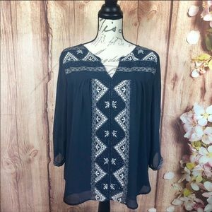 MM Couture by Miss Me | embellished navy blouse